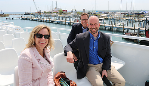 Leanne Chadwick, Mike Shriberg and Marc Smith head to Mackinac Island to address Line 5