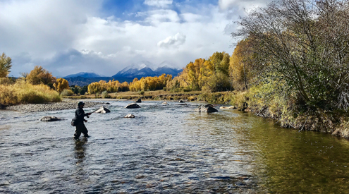 A. Kindle, Fly fishing