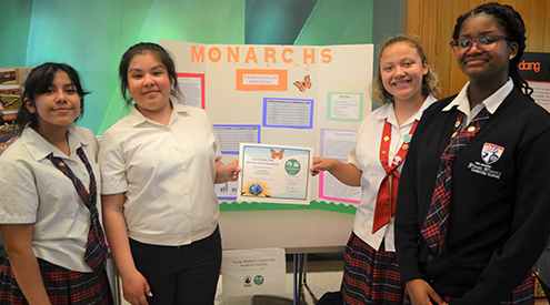Texas EcoSchools Monarch Presentation Young Women's Leadership Academy San Antonio