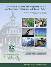 A Student's Guide to How Corporate Oil, Gas, and Coal Money Influences U.S. Energy Policy report cover
