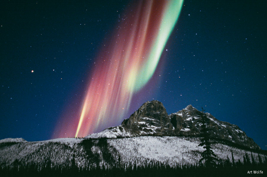 Aurora borealis over Alaska's Brooks Range