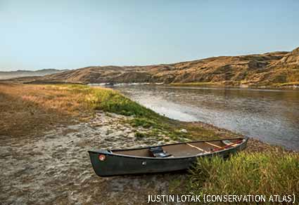 Beached Canoe, Upper Missouri River Breaks National Monument