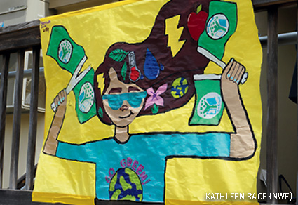EcoSchool flag designed by Centerville Elementary School students