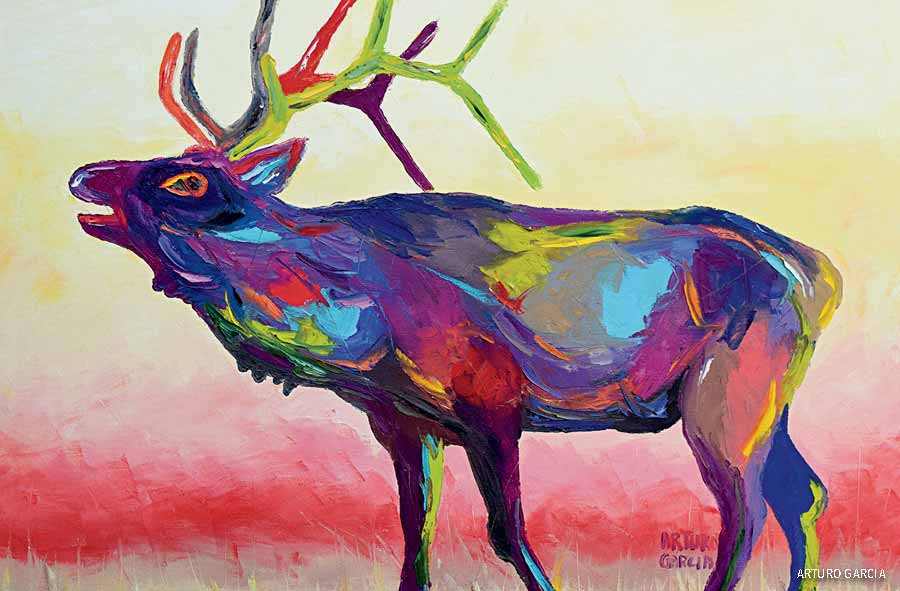 Elk painting by Arturo Garcia