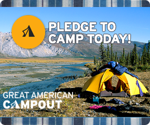 Pledge to campout today!