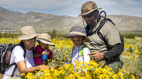 Family on Pacific Crest Trail, BLM