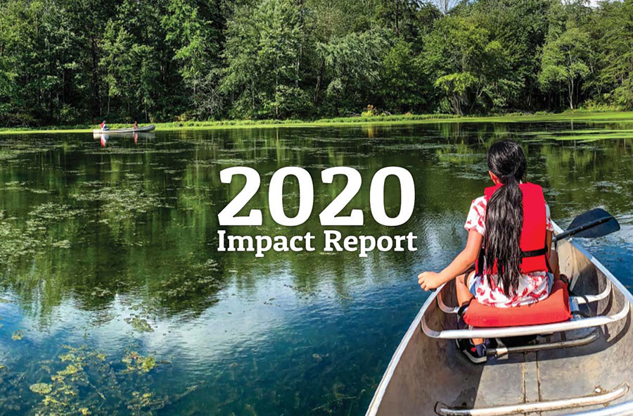 2020 Impact Report - woman in canoe